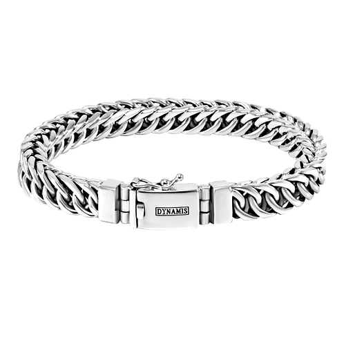 Persian link Sterling silver bracelet  (9 mm)