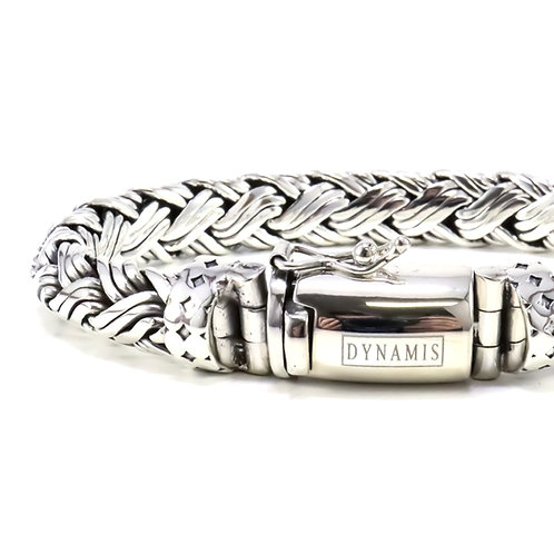 "Bali sterling silver bracelet ""Dynamis"" with box clasp (9 mm)"