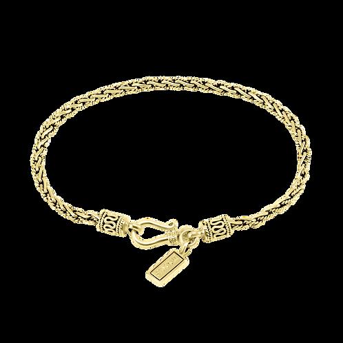 Thin Bali 18k Yellow Gold bracelet