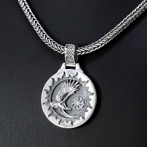 Sterling silver Celtic Eagle pendant