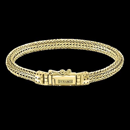Foxtail link 18k Yellow Gold bracelet (6.5 mm)