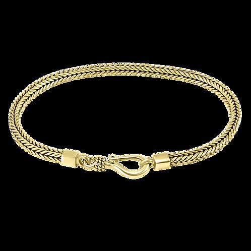 Foxtail link 18k Yellow Gold bracelet