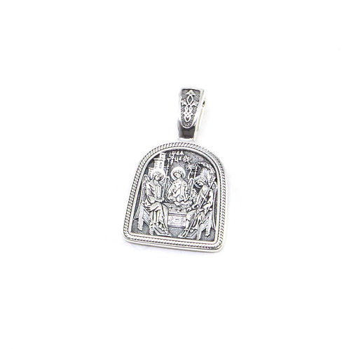 Holy Trinity Sterling Silver Orthodox pendant