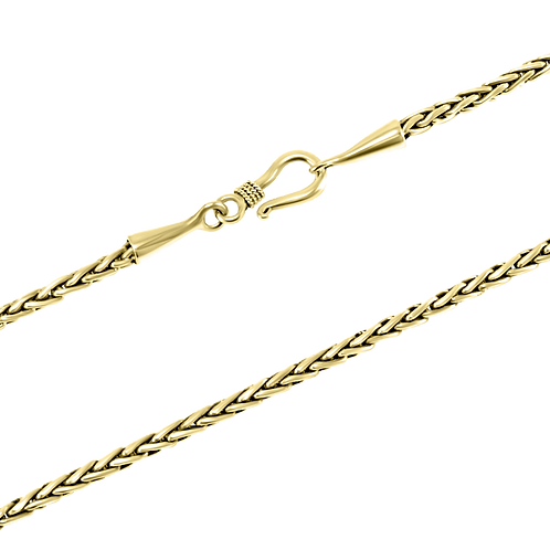 Wheat link 18k Yellow Gold chain
