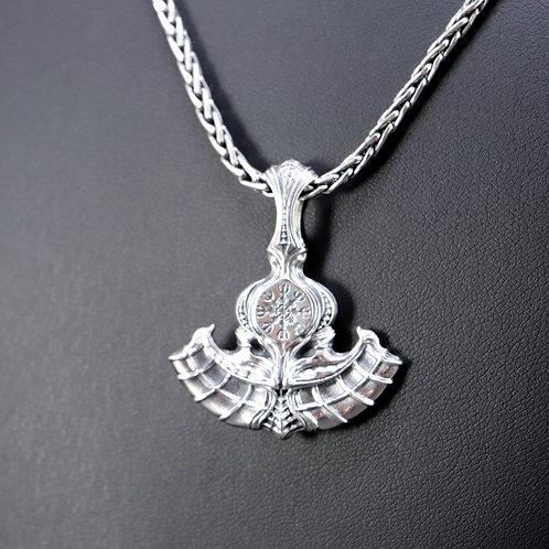 Sterling silver Celtic axe pendant