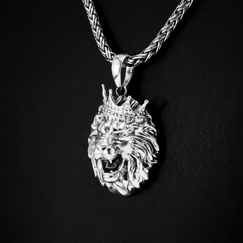 "Sterling silver pendant ""Lion with crown"""