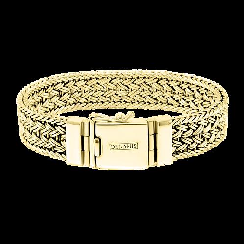 Heavy Bali 18k Yellow Gold bracelet  (15 mm)