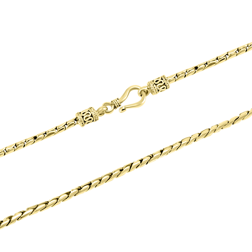 Cobra 18k Yellow Gold necklace (2.5 mm)