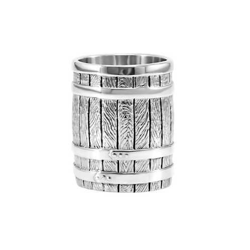 Sterling silver barrel shot glasses (set of 6)