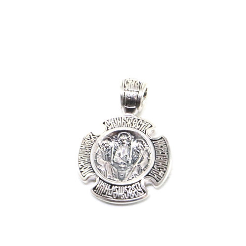Sterling silver Holy Trinity Orthodox pendant