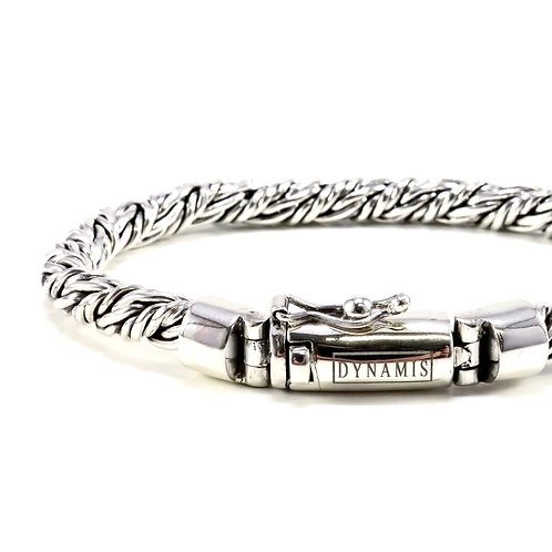 """Bali sterling silver bracelet """"Dynamis"""" with box clasp (6 mm)"""