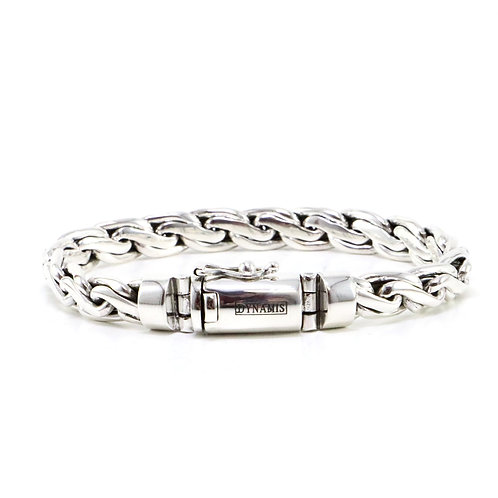 """Bali sterling silver bracelet """"Dynamis"""" with box clasp (8 mm)"""