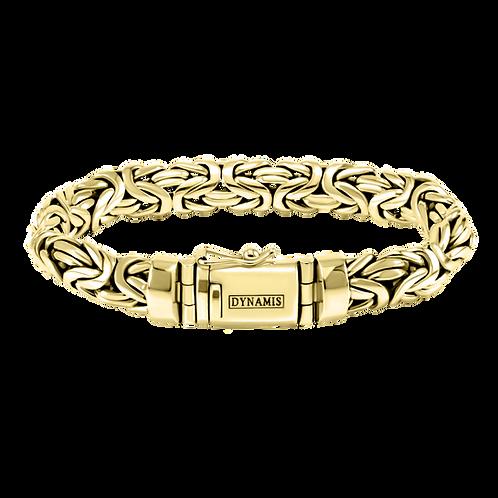 Heavy Byzantine Bali 18k Yellow Gold Bracelet (11 mm)