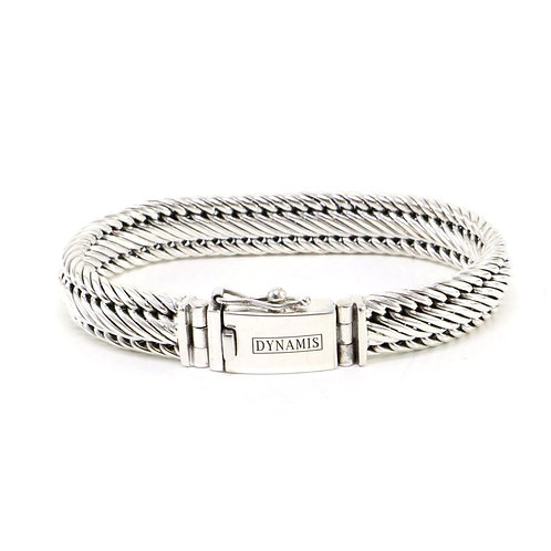 """Bali sterling silver bracelet """"Dynamis"""" with box clasp (11 mm)"""