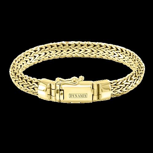 Foxtail link Bali 18k Yellow Gold bracelet (9.5 mm)