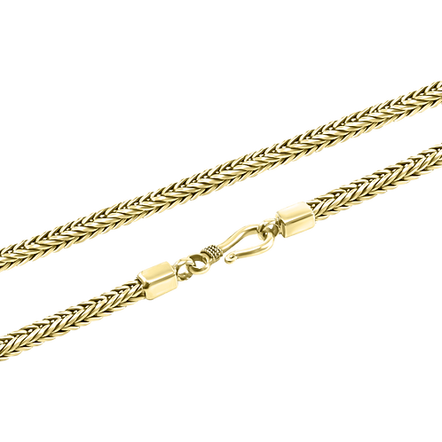 Foxtail link 18k Yellow Gold necklace