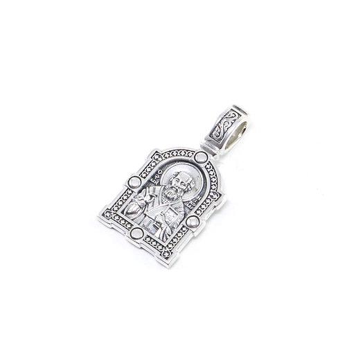 Sterling silver Greek-Russian orthodox pendant