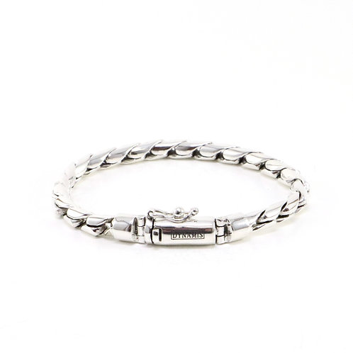 """Cobra link sterling silver bracelet """"Dynamis"""" with box clasp (4.5 mm)"""