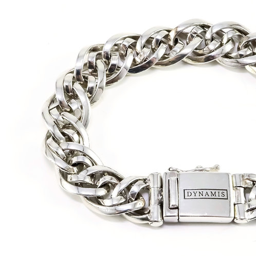 """Bali sterling silver bracelet """"Dynamis"""" with box clasp (12 mm)"""