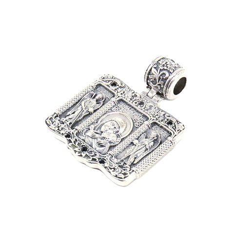 Sterling Silver Orthodox Pendant Mother of God