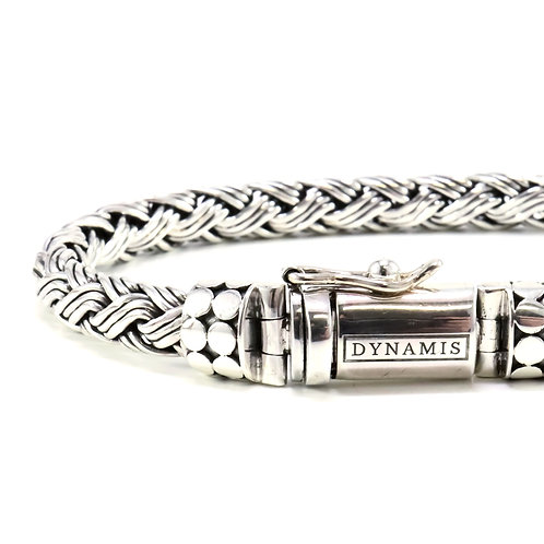 "Bali sterling silver bracelet ""Dynamis"" with box clasp (7 mm)"