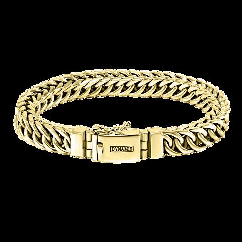Persian link 18k Yellow Gold bracelet  (9 mm)