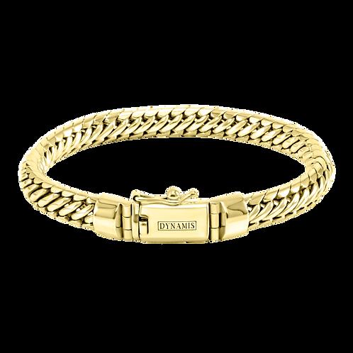 Woven snake 18k Yellow Gold bracelet (8 mm)
