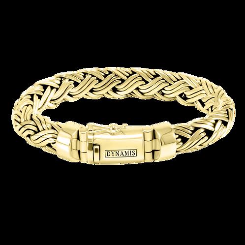 Heavy 18k Yellow Gold Bali Bracelet (12 mm)