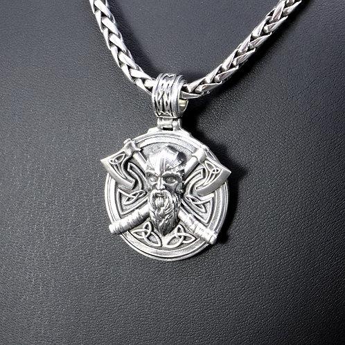Sterling silver Viking pendant