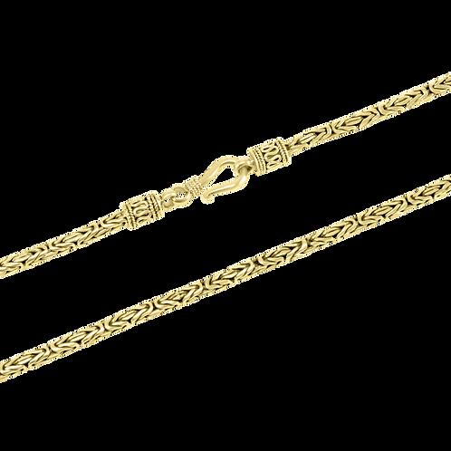 Byzantine 18k Yellow Gold necklace (2.5 mm)