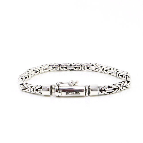 "Byzantine sterling silver bracelet ""Dynamis"" with box clasp 