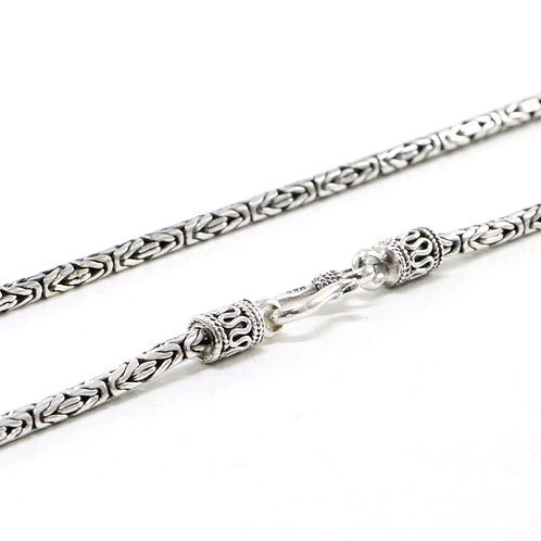 Byzantine sterling silver chain necklace (2.5 mm)