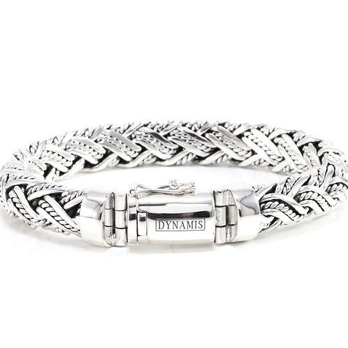 Heavy Sterling Silver Bali bracelet (12 mm)