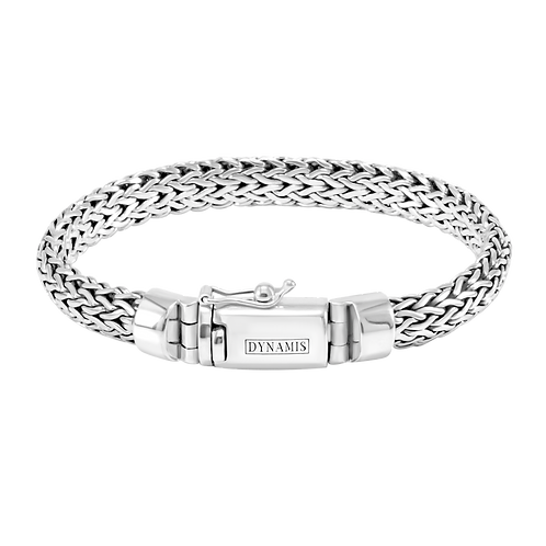 Foxtail link Bali Sterling silver bracelet (9.5 mm)