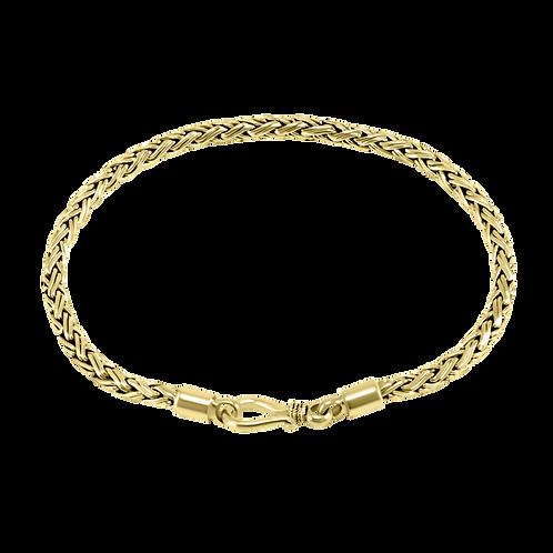 Bali link 18k Yellow Gold bracelet