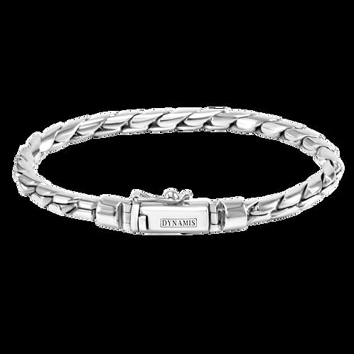 Cobra link Sterling silver bracelet (4.5 mm)