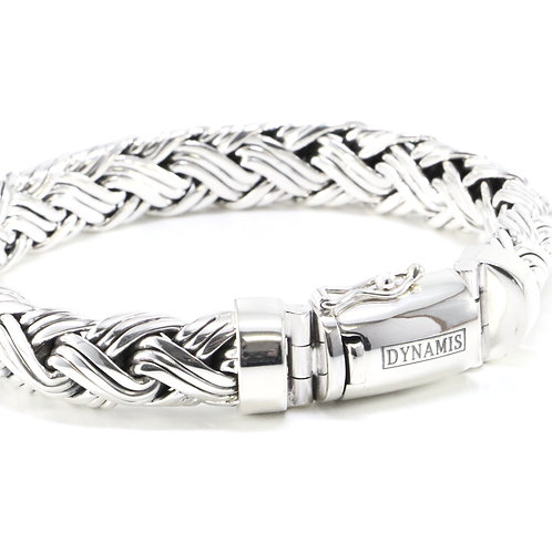Heavy Sterling Silver Bali Bracelet (12 mm)