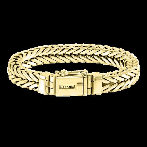 Men's heavy 18k Yellow Gold bracelet  (Foxtail link)