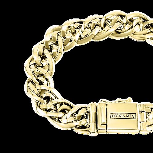 Bali 18k Yellow Gold bracelet (12 mm)