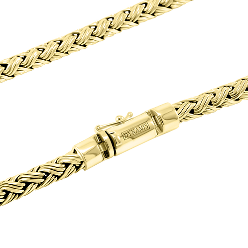 Heavy 18k Yellow Gold Bali necklace (7 mm)