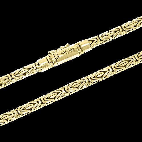Heavy 18k Yellow Gold byzantine link necklace