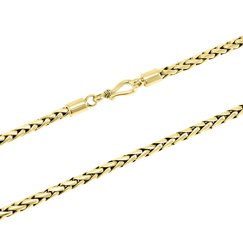 Bali 18k Yellow Gold necklace (4 mm)