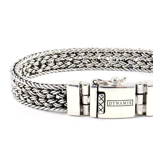 """Bali sterling silver bracelet """"Dynamis"""" with box clasp (10 mm)"""
