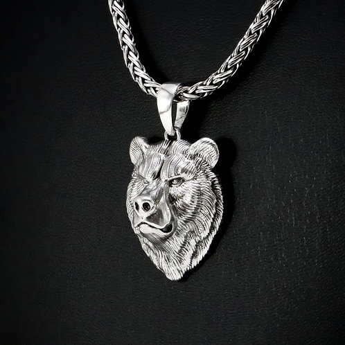 Sterling silver Bear pendant