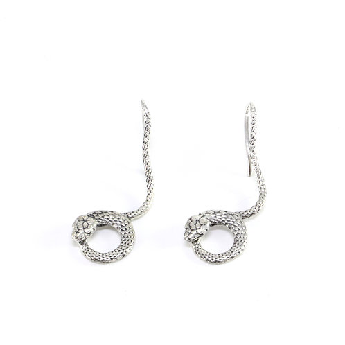 Sterling silver Snake hook earrings