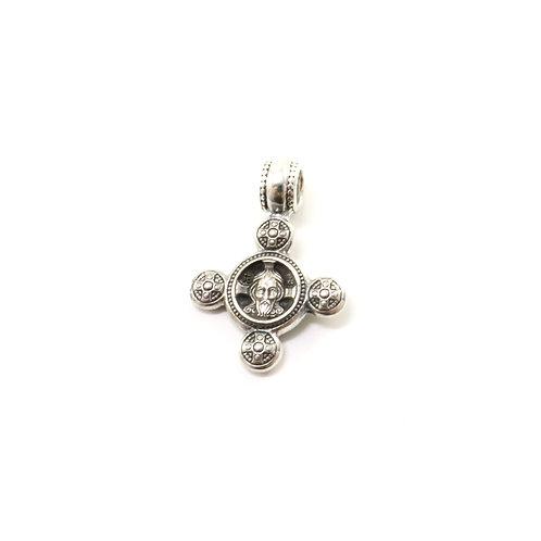 Sterling silver Greek-Russian orthodox cross pendant