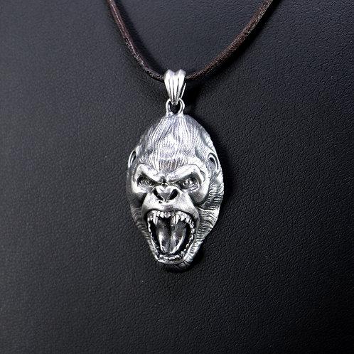 Sterling silver Kong pendant