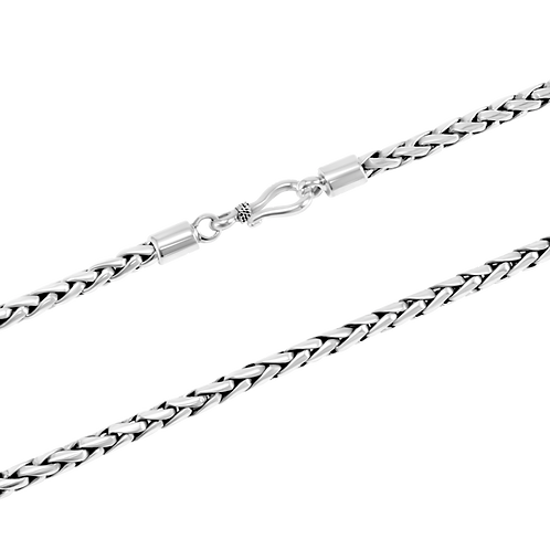 Bali Sterling silver necklace (4 mm)