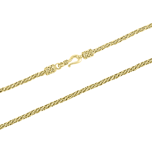 Bali 18k Yellow Gold necklace  (2.5 mm)