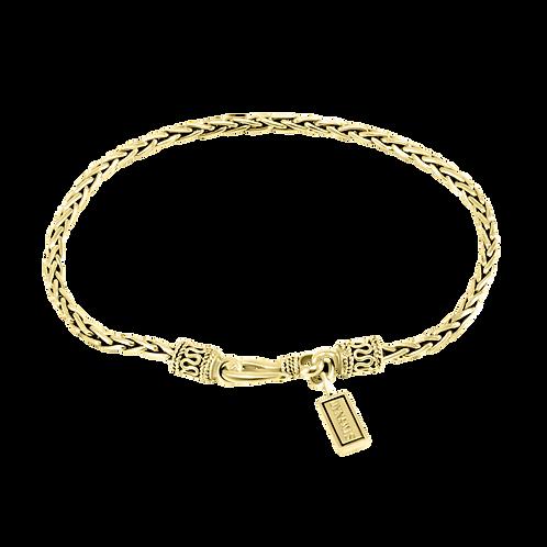 Wheat link 18k Yellow Gold bracelet